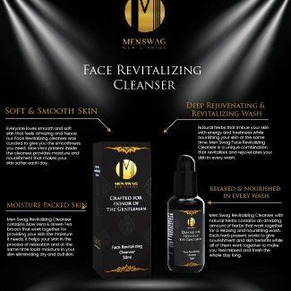 Men Swag Face Revitalizing Cleanser Benefits Image